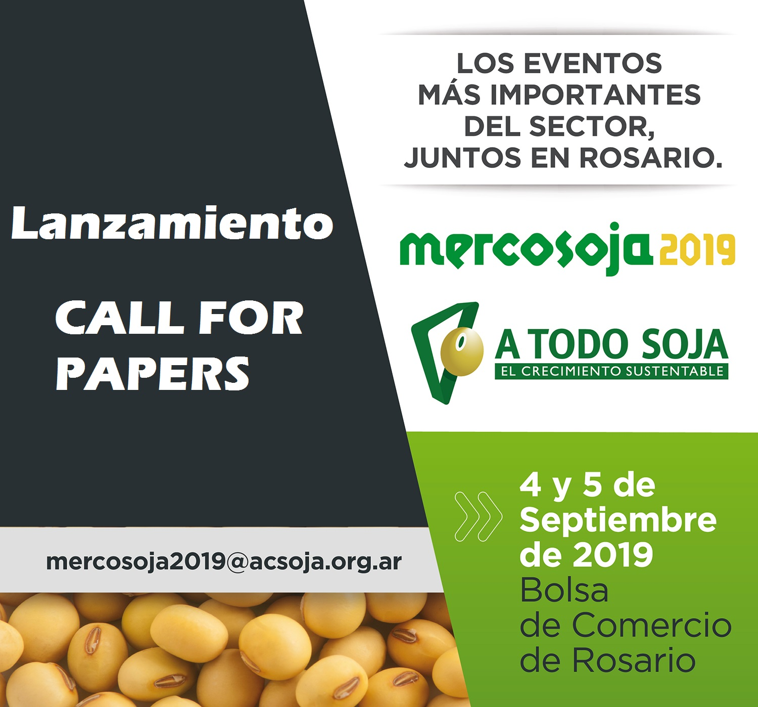 #Mercosoja2019 Lanzamiento Call for Papers